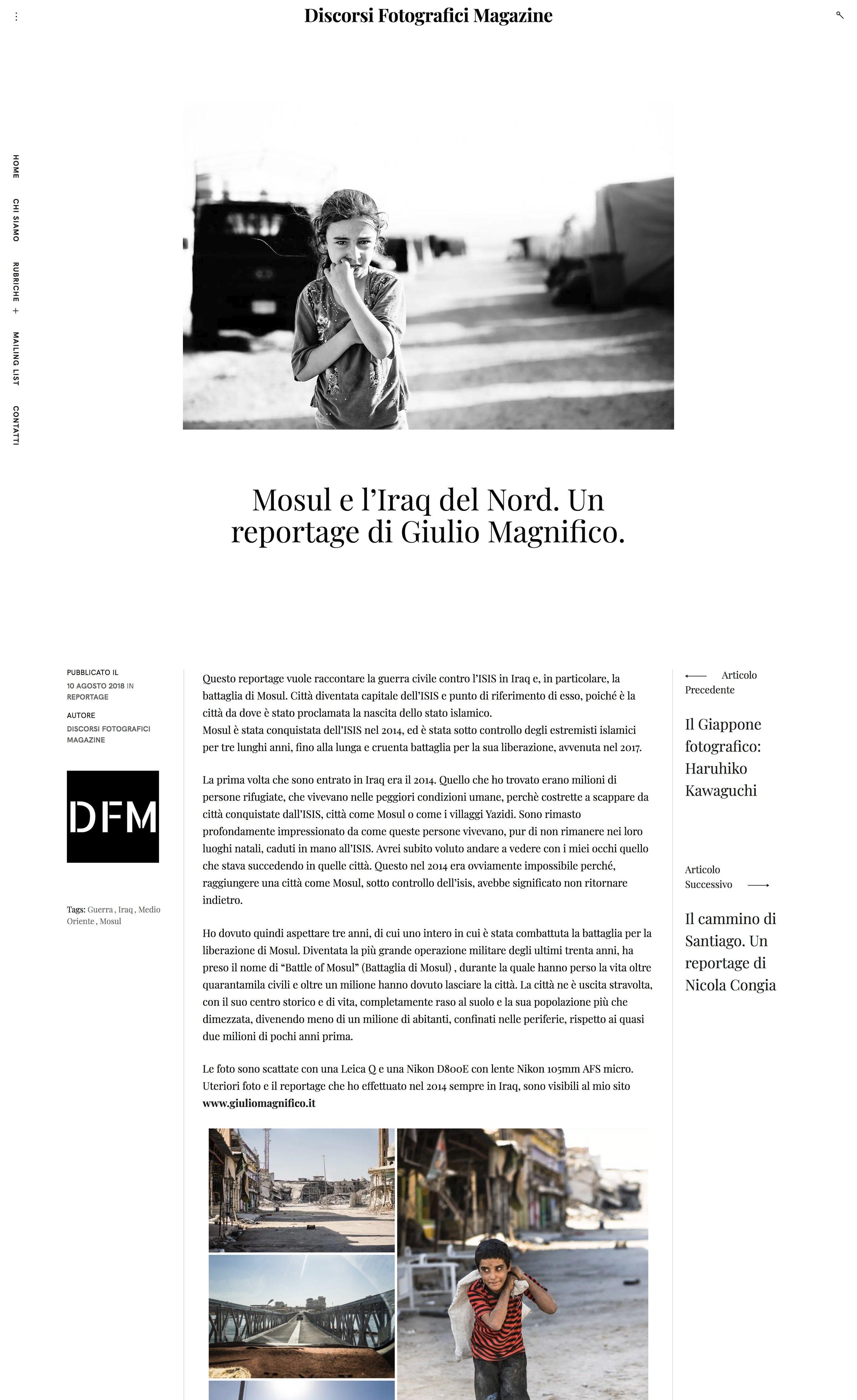 Mosul e l'Iraq del Nord. Un reportage di Giulio Magnifico.