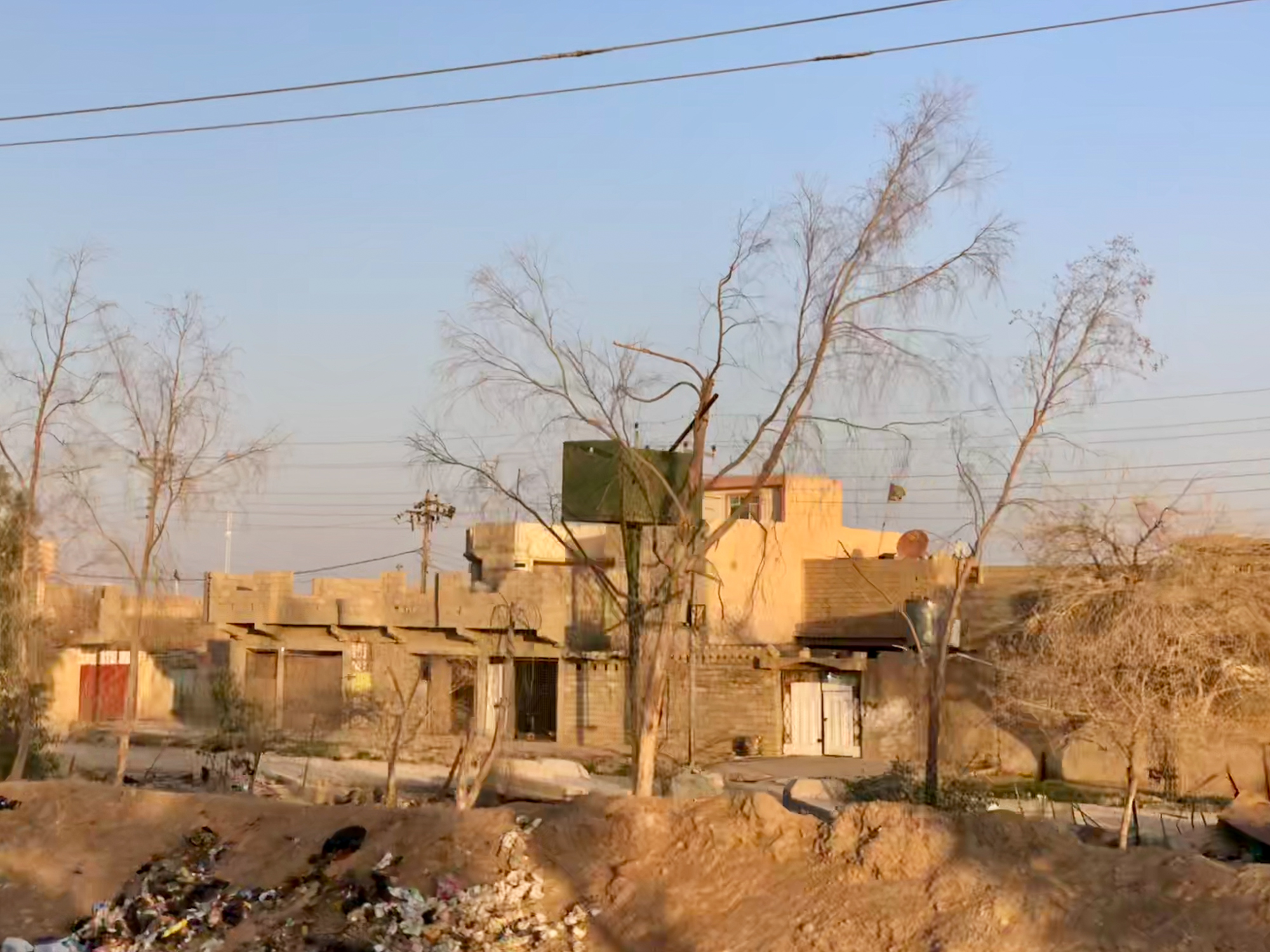 A small house on the threes where ISIS sniper shoot on the civilian of Tal Afar