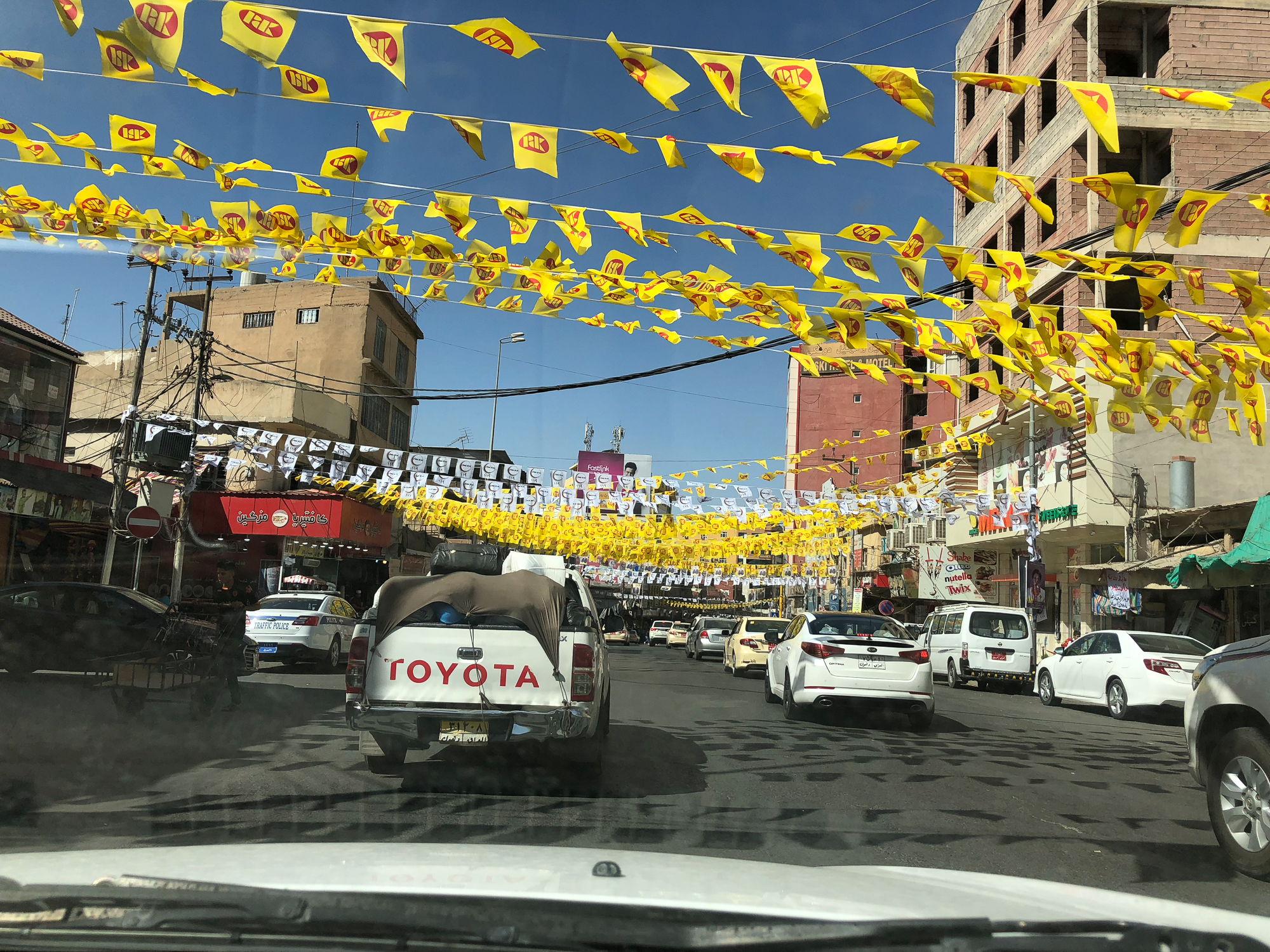 The decorations for the elections in Dohuk