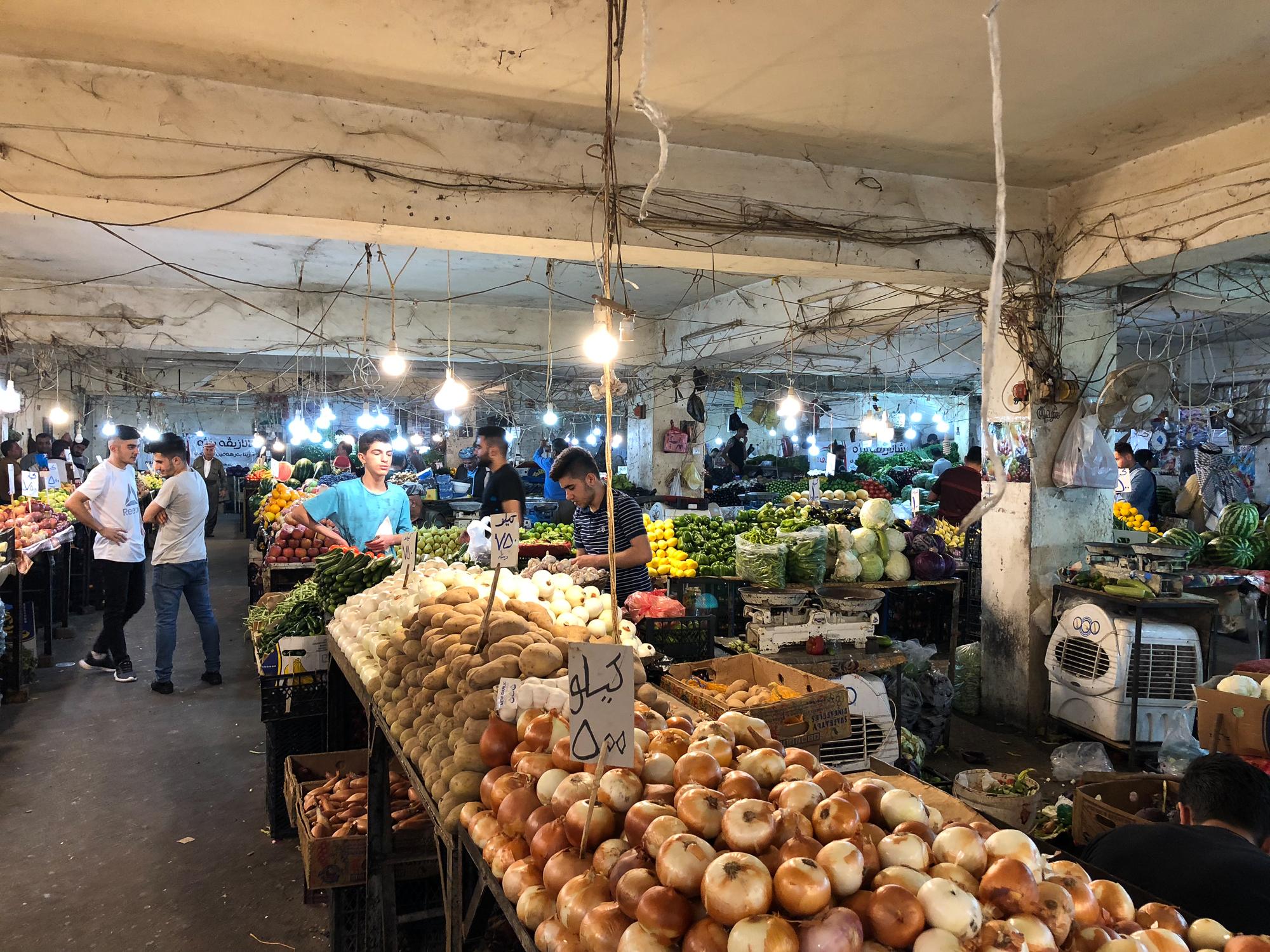 Vegetables bazaar in Dohuk