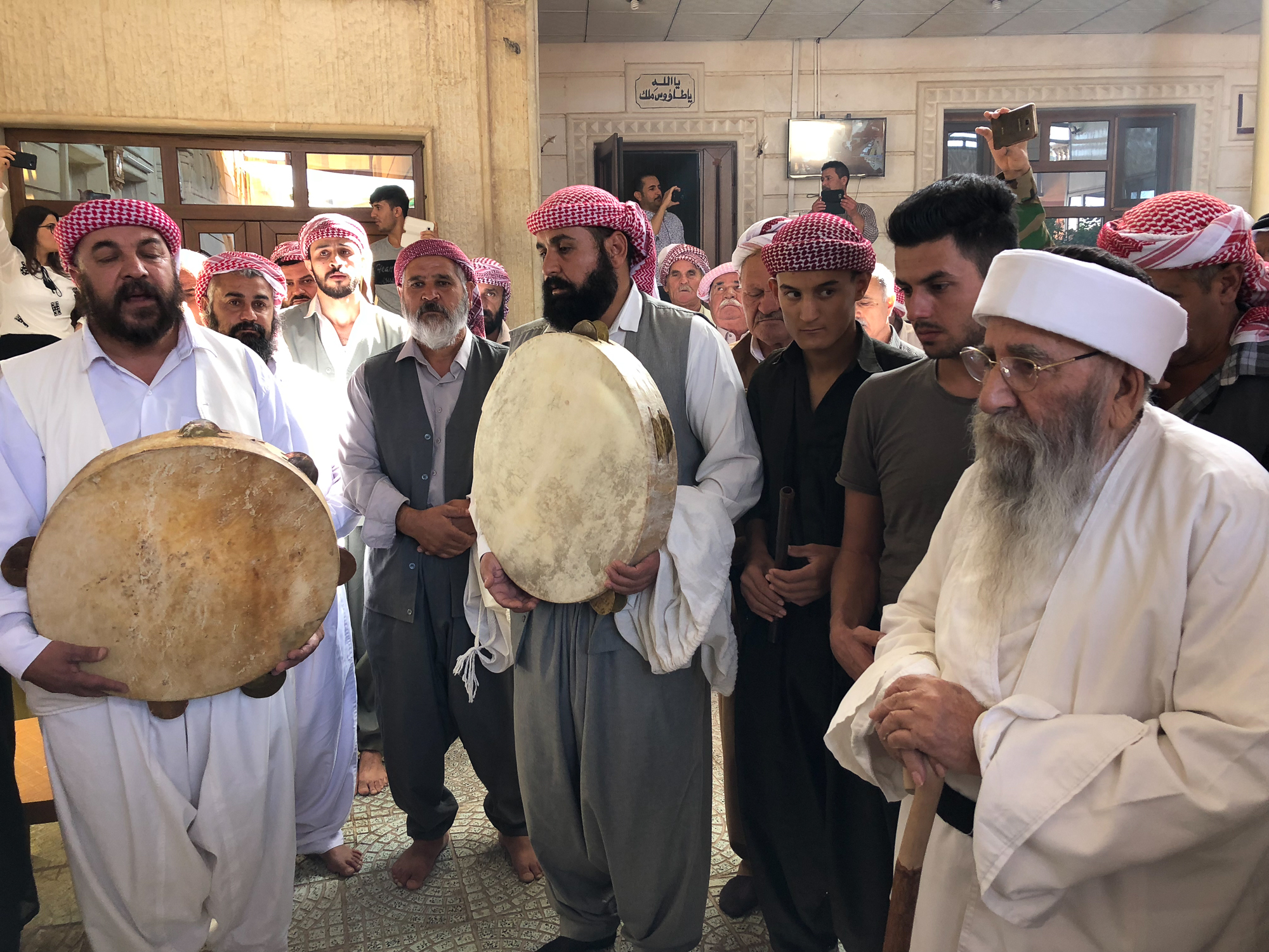 The start of Ceina Cemaiya at Baba Sheikh's house in Shekan