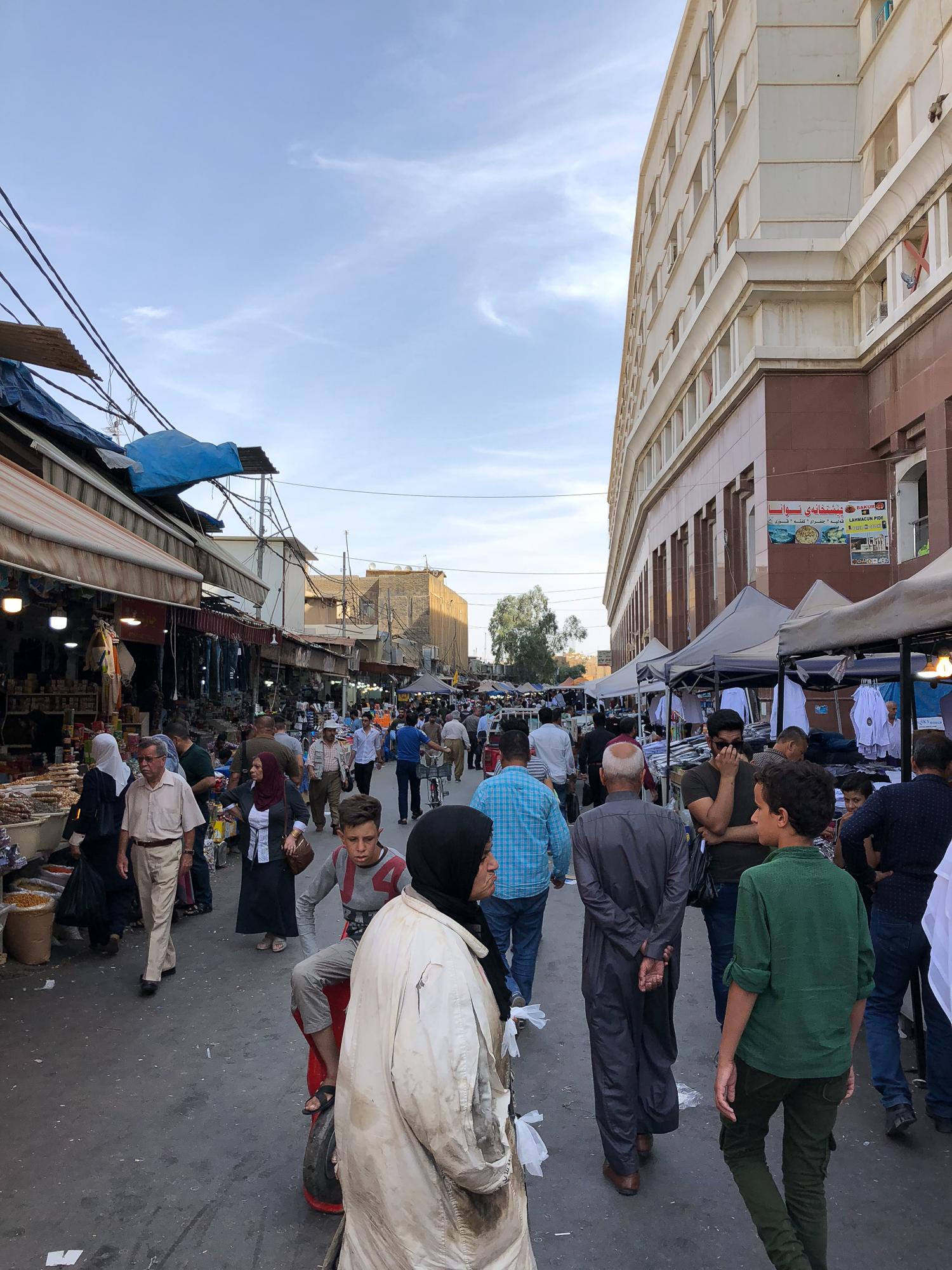 Open bazaar in Erbil