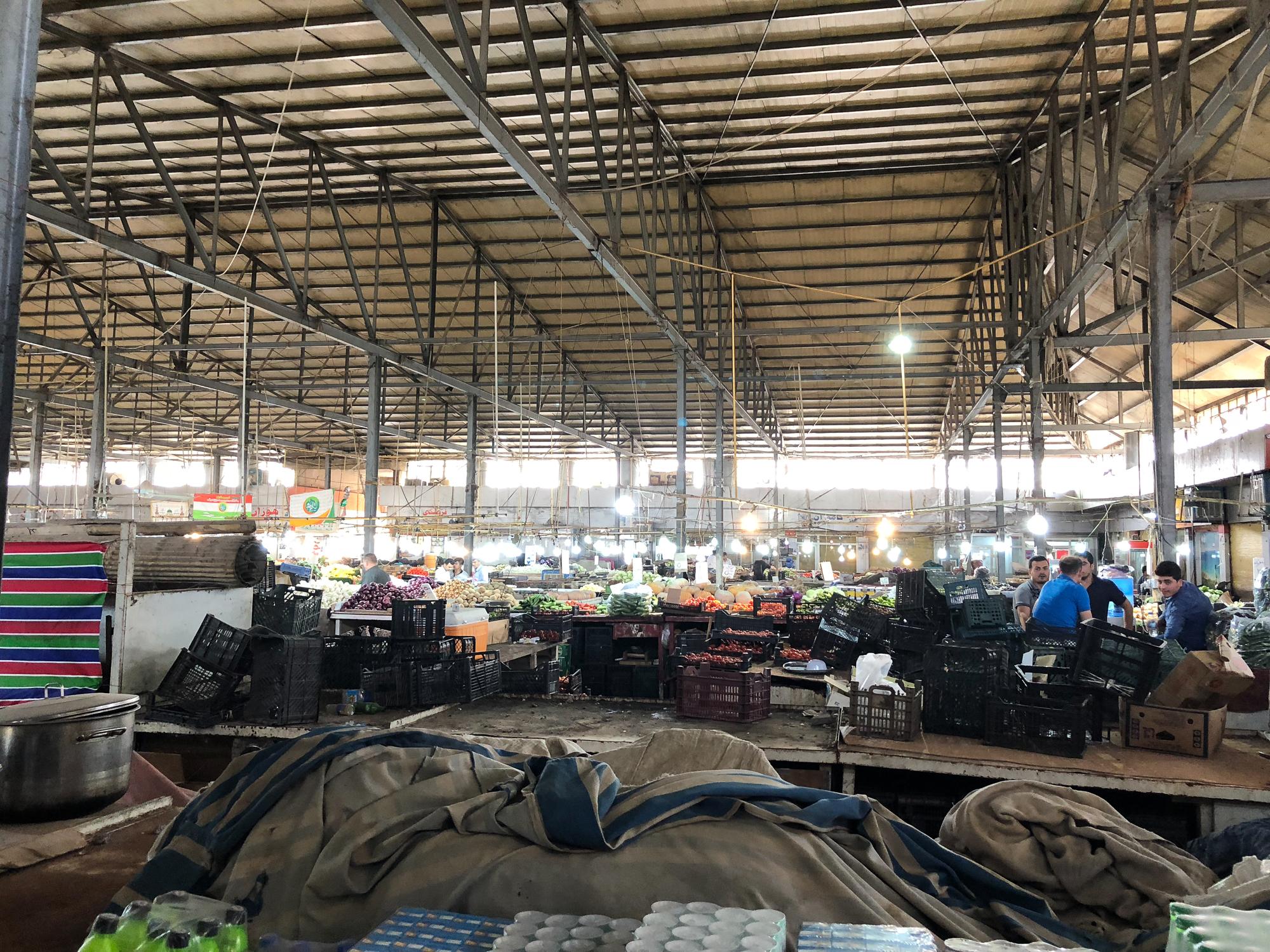 Vegetables bazaar in Erbil