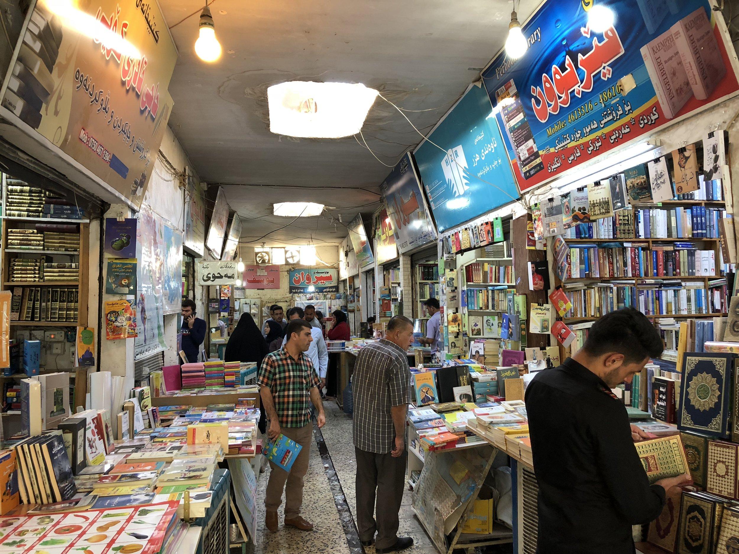 Book bazaar in Erbil