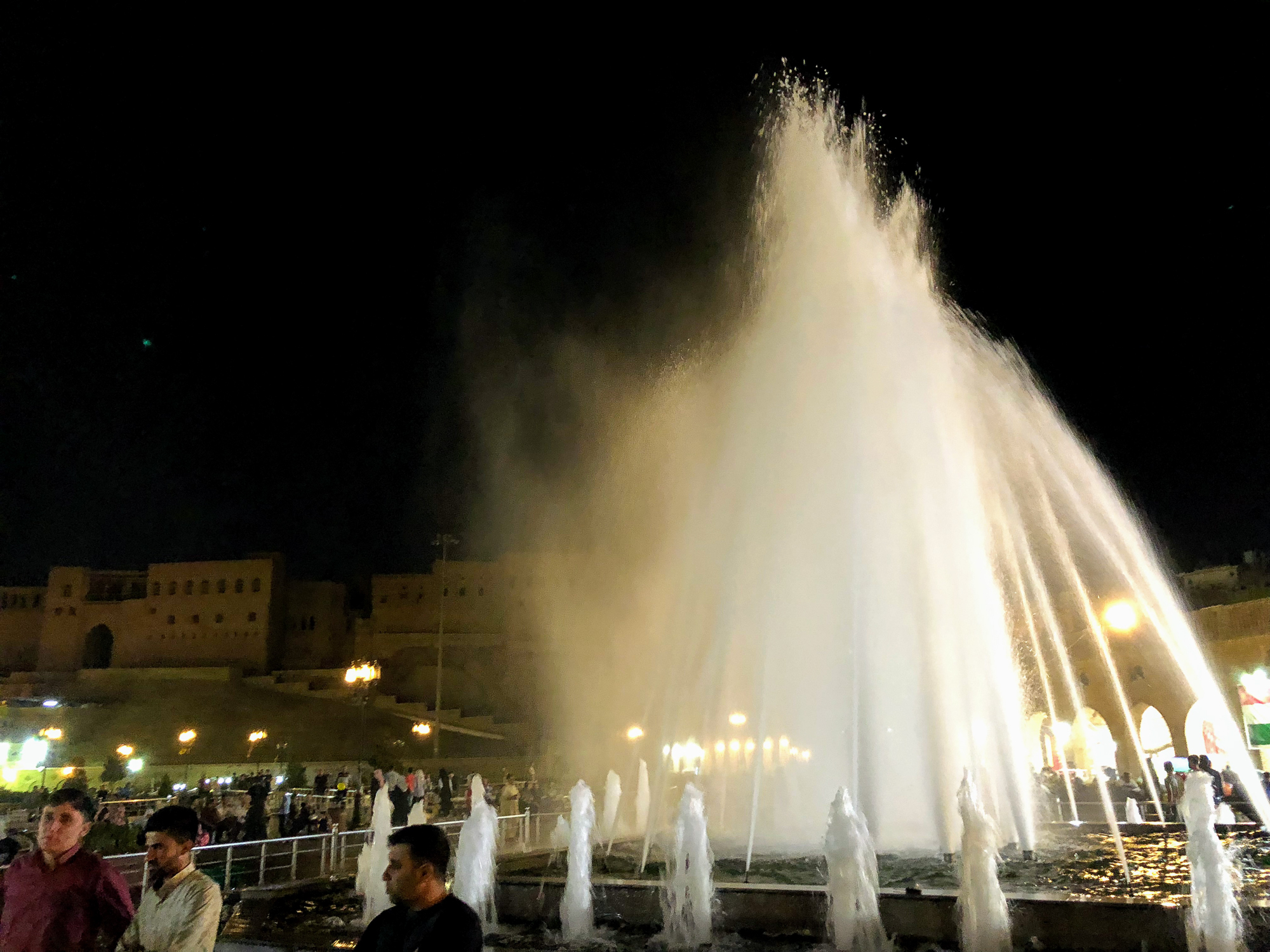 Fountains in Erbil central square
