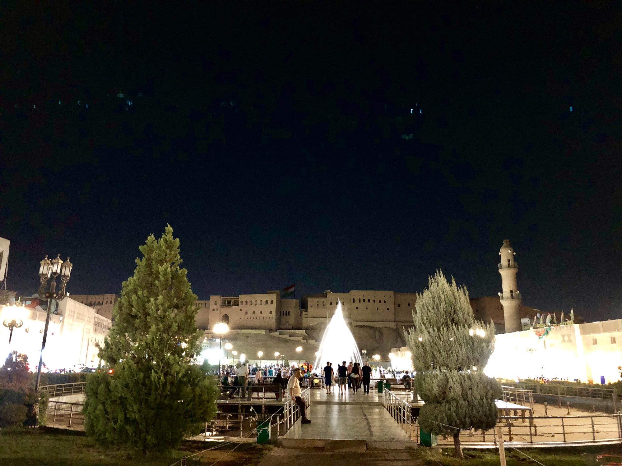 Central square in Erbil