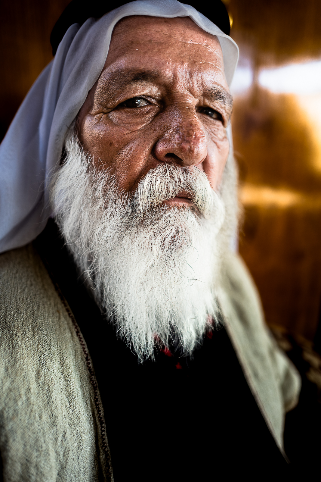 Old yazidi man in mount Sinjar