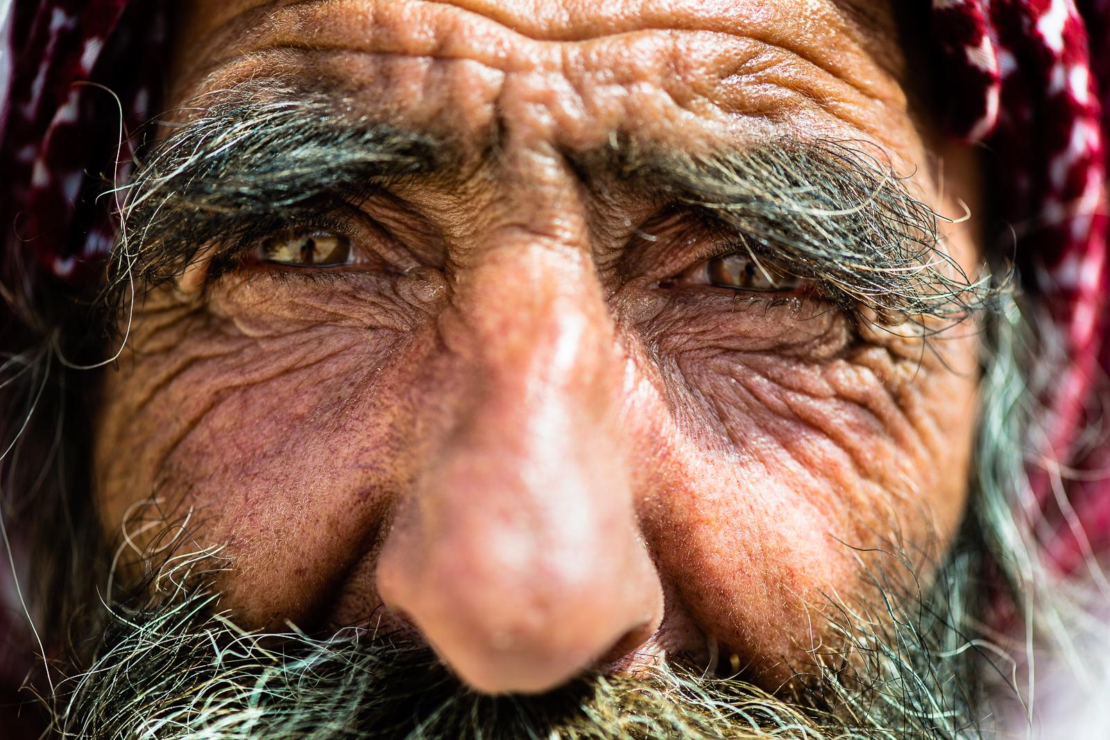 An old yazidi man in the Sinjar Mount