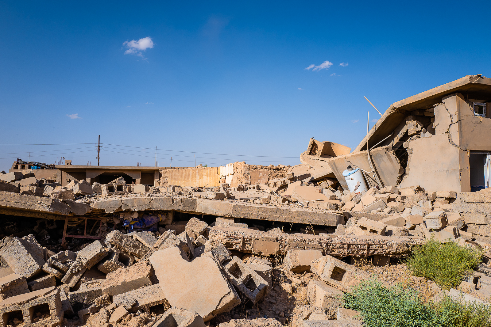 The destroyed villages under the Sinjar mount were the Yazidi people lived