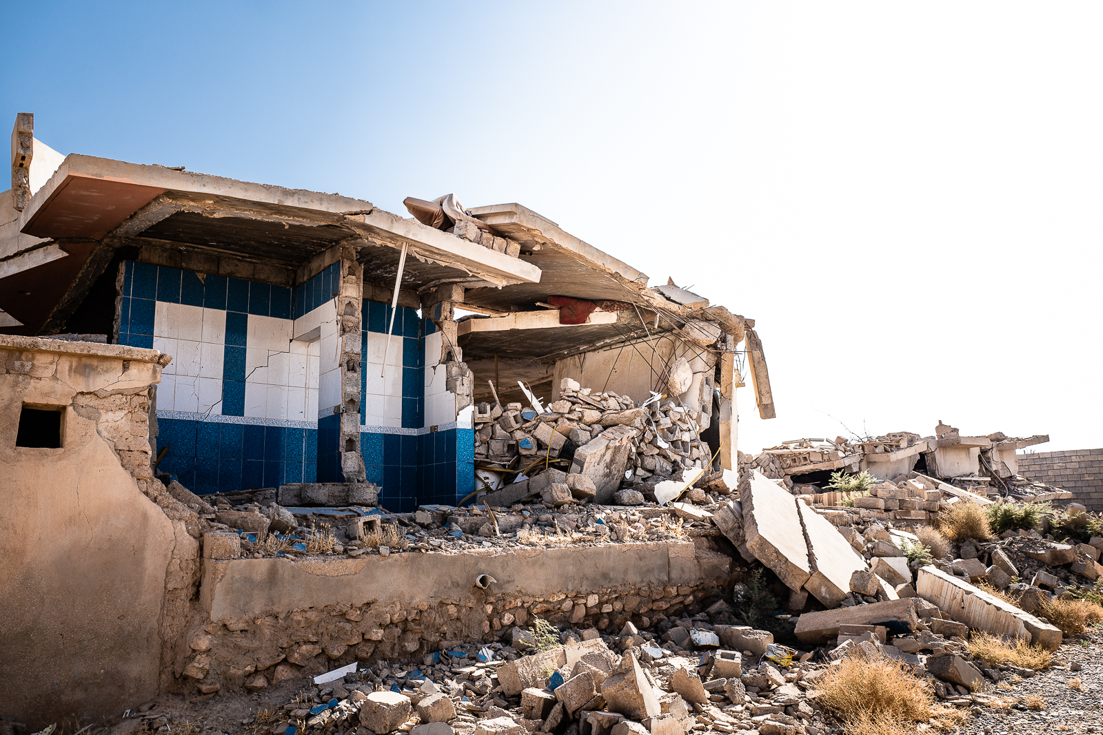 The destroyed villages under the Sinjar mount were the Yazidi people lived