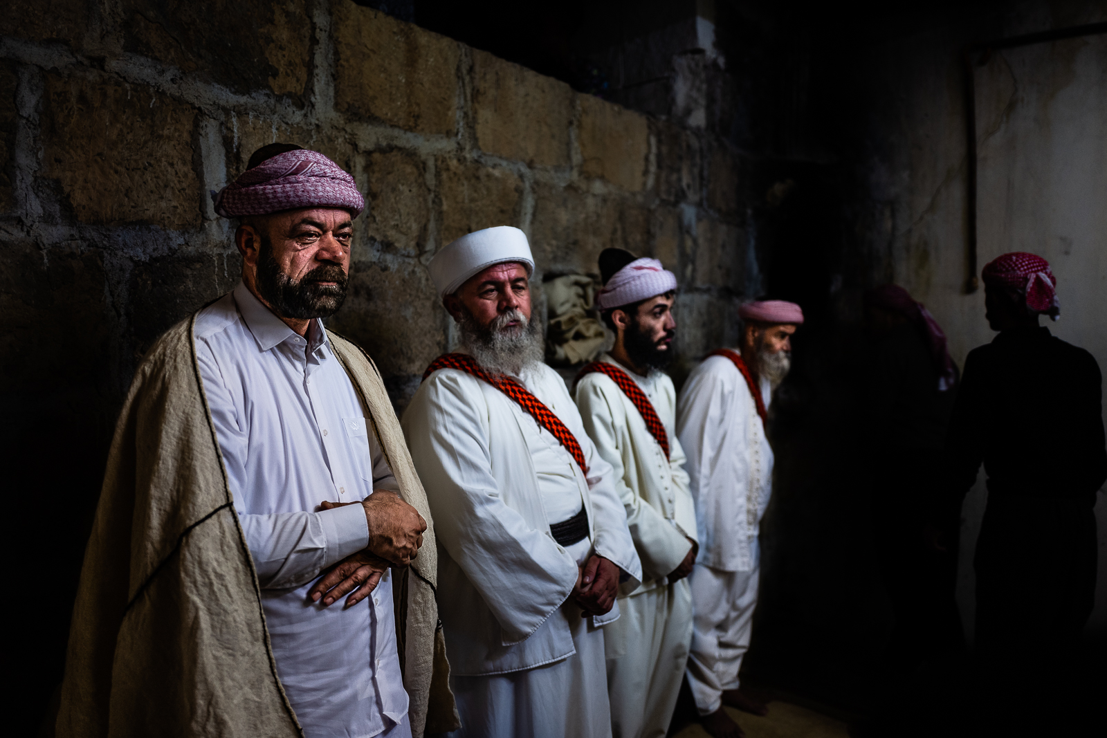 Important religious Yazidi men during the Cejna Cemaiya