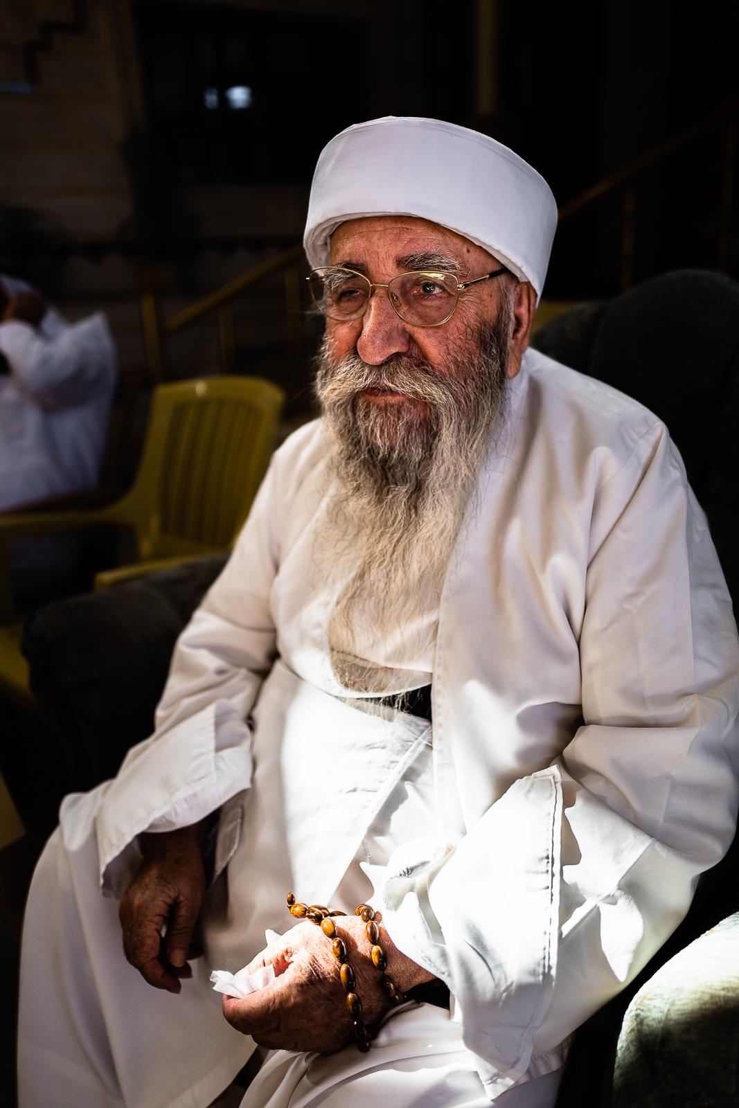 Baba Sheikh at his house