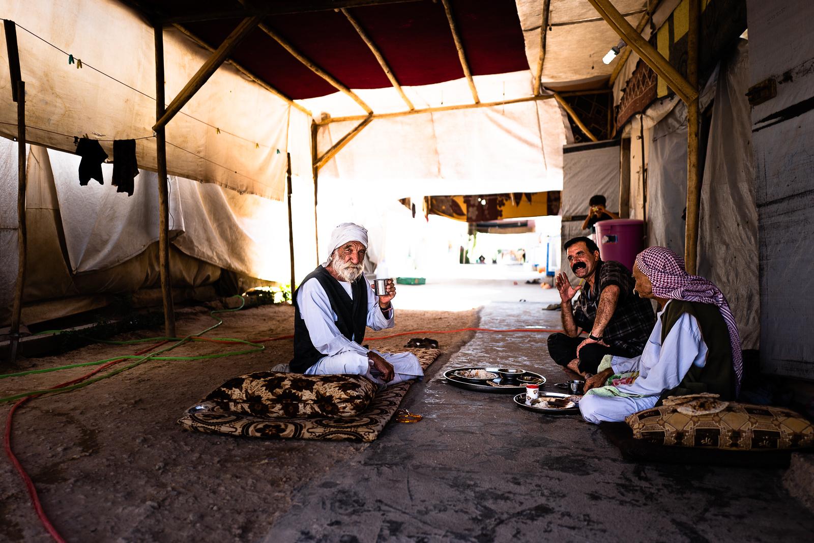 Scene of life in the refugees camp of Khanik, near Douhk