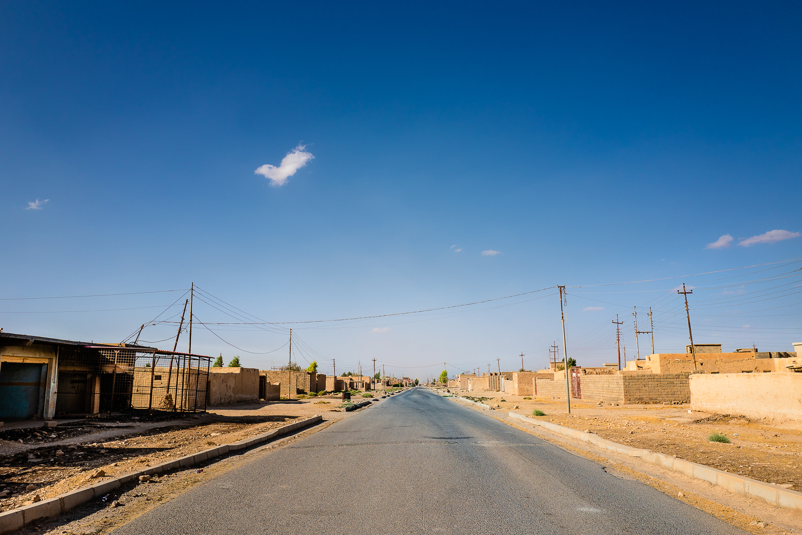 The empty villages under the Sinjar mount were the Yazidi people lived