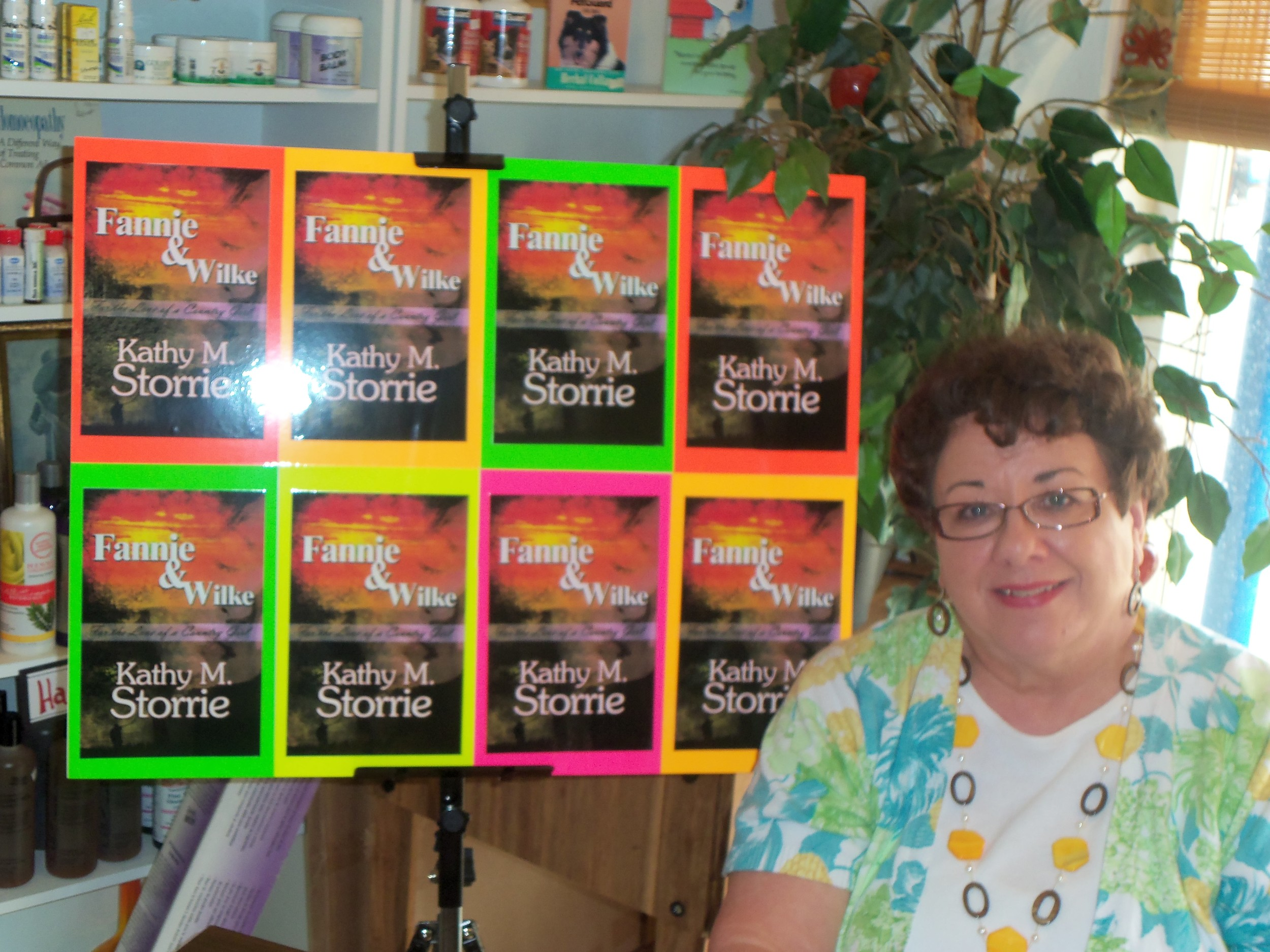My first book signing was at HEALTH ON MAIN, Hamilton, Ohio. Fannie used lots of homeopathic healing remedies.