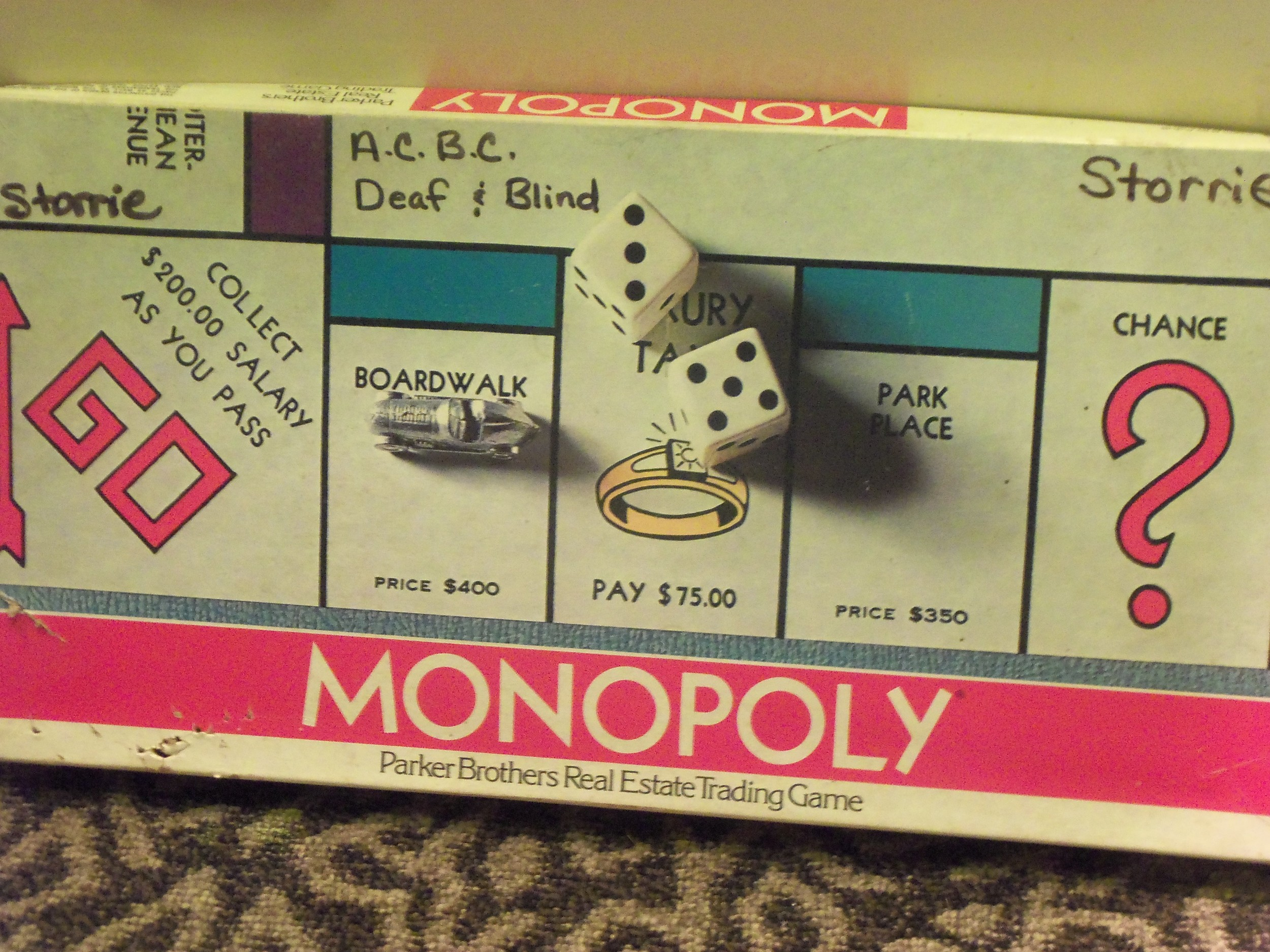 MONOPOLY GAME OWNED BY KATHY STORRIE FOR 40 YEARS