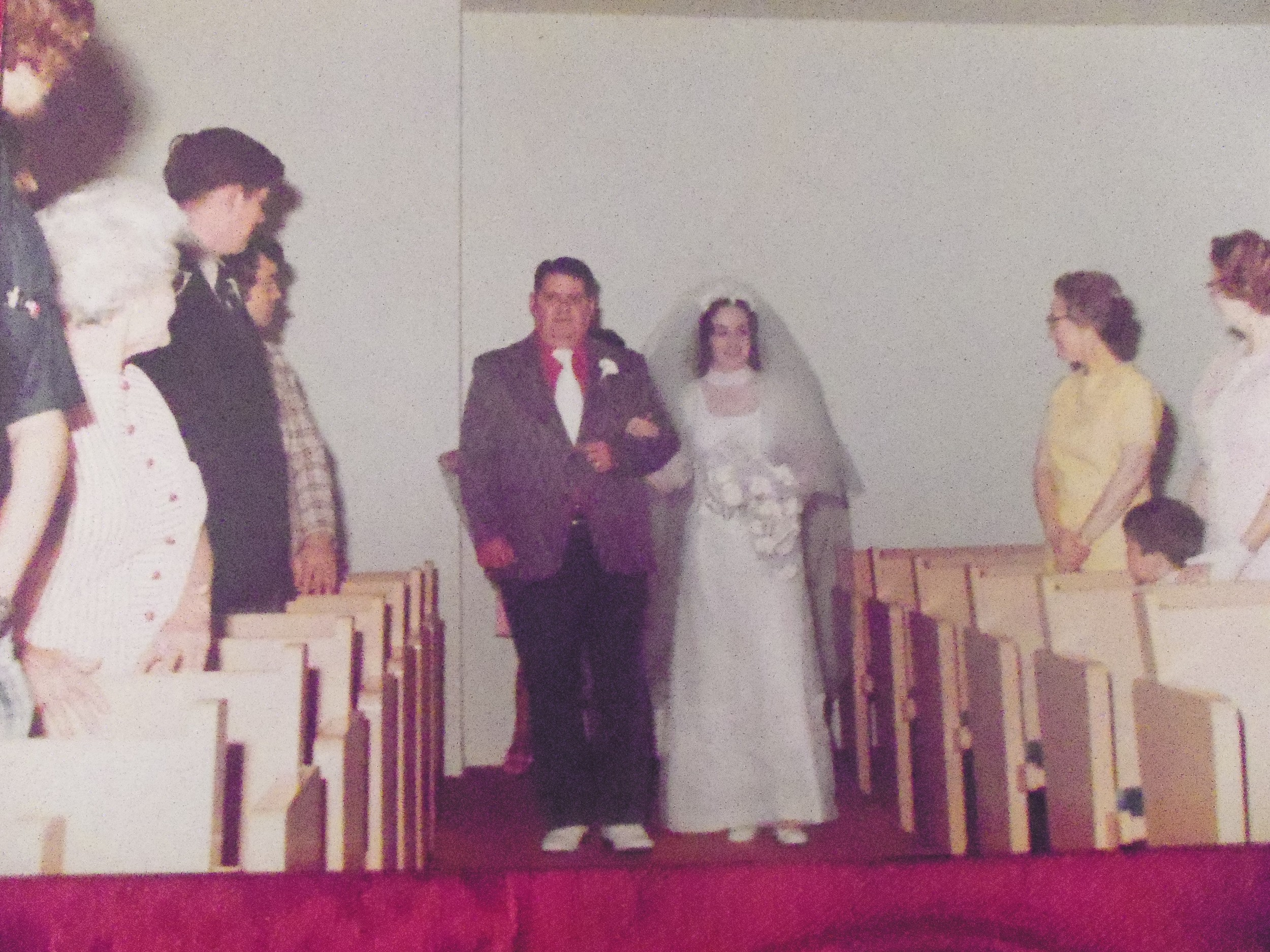 DAD HELPED ME DOWN THE ISLE  BREATHE KATHY BREATHE  THERE'S LITTLE DAVID