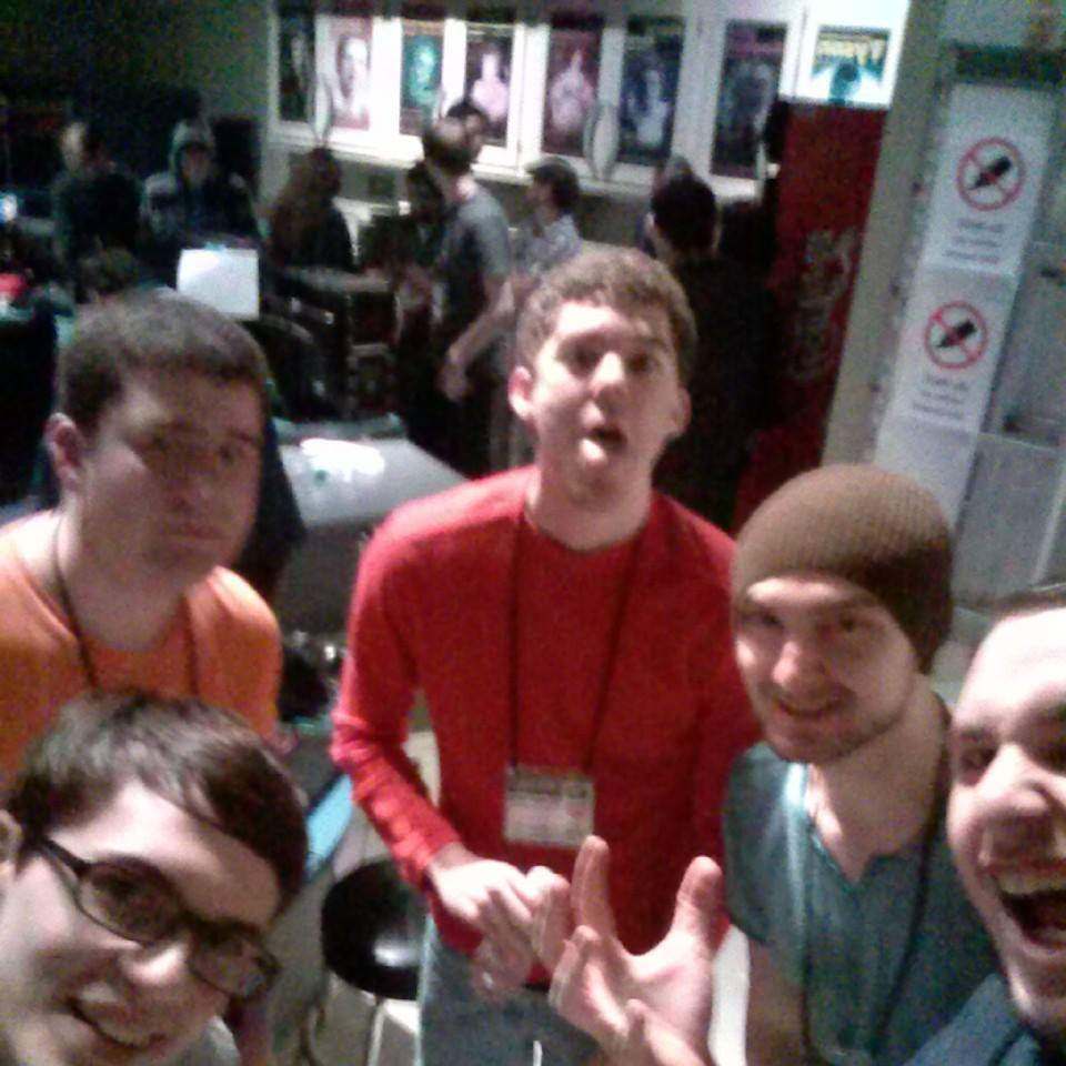 Otronicon 2014 48 hour Game Jam winners. (I'm the farthest right)