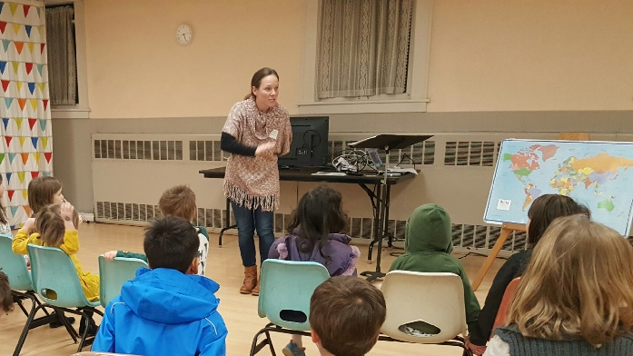 Pictured Above: Mary Ann teaching the kids about God's heart for the nations