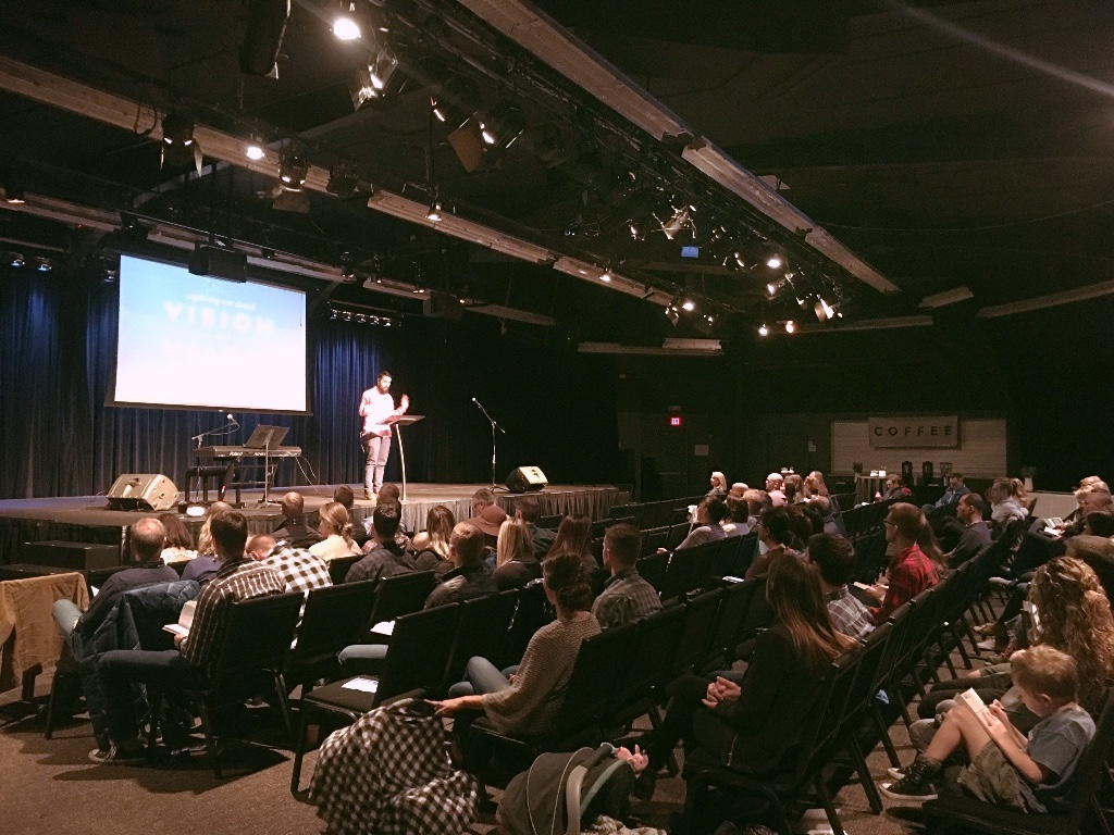 Pictured above: The Hallows North Expression's first Sunday gathering at King's Schools in Shoreline. Praise God for the 70+ adults and 20 children who gathered to worship!