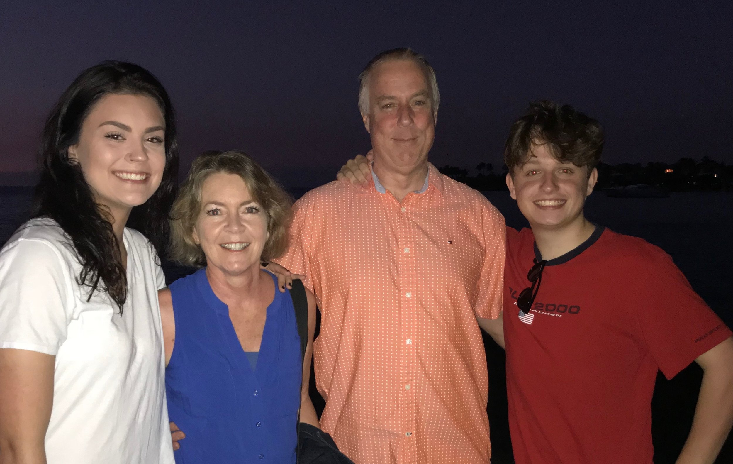 Millie (second from the left) pictured with her family