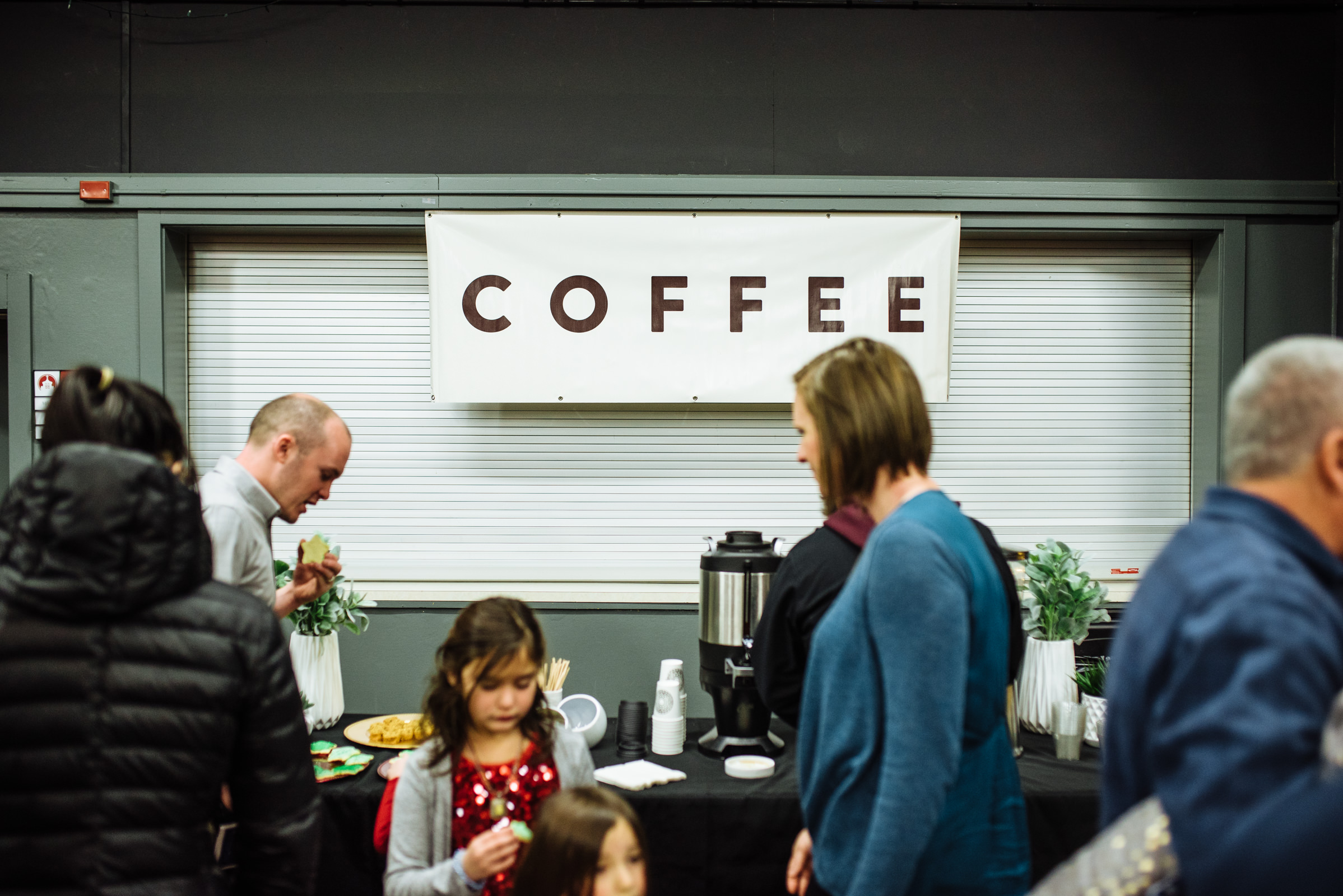 Coffee served at each Sunday gathering
