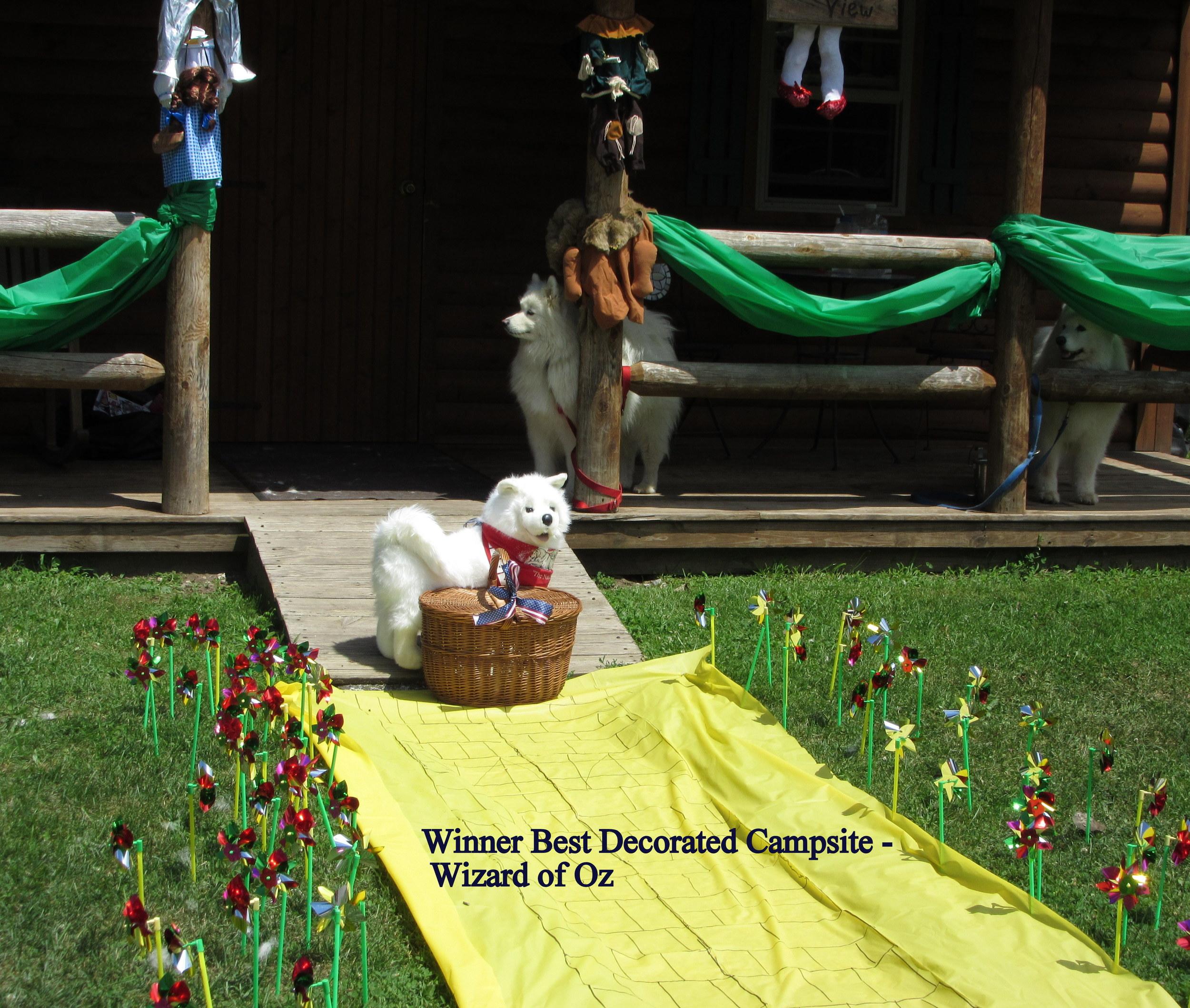 Winner of Best Decorated Campsite
