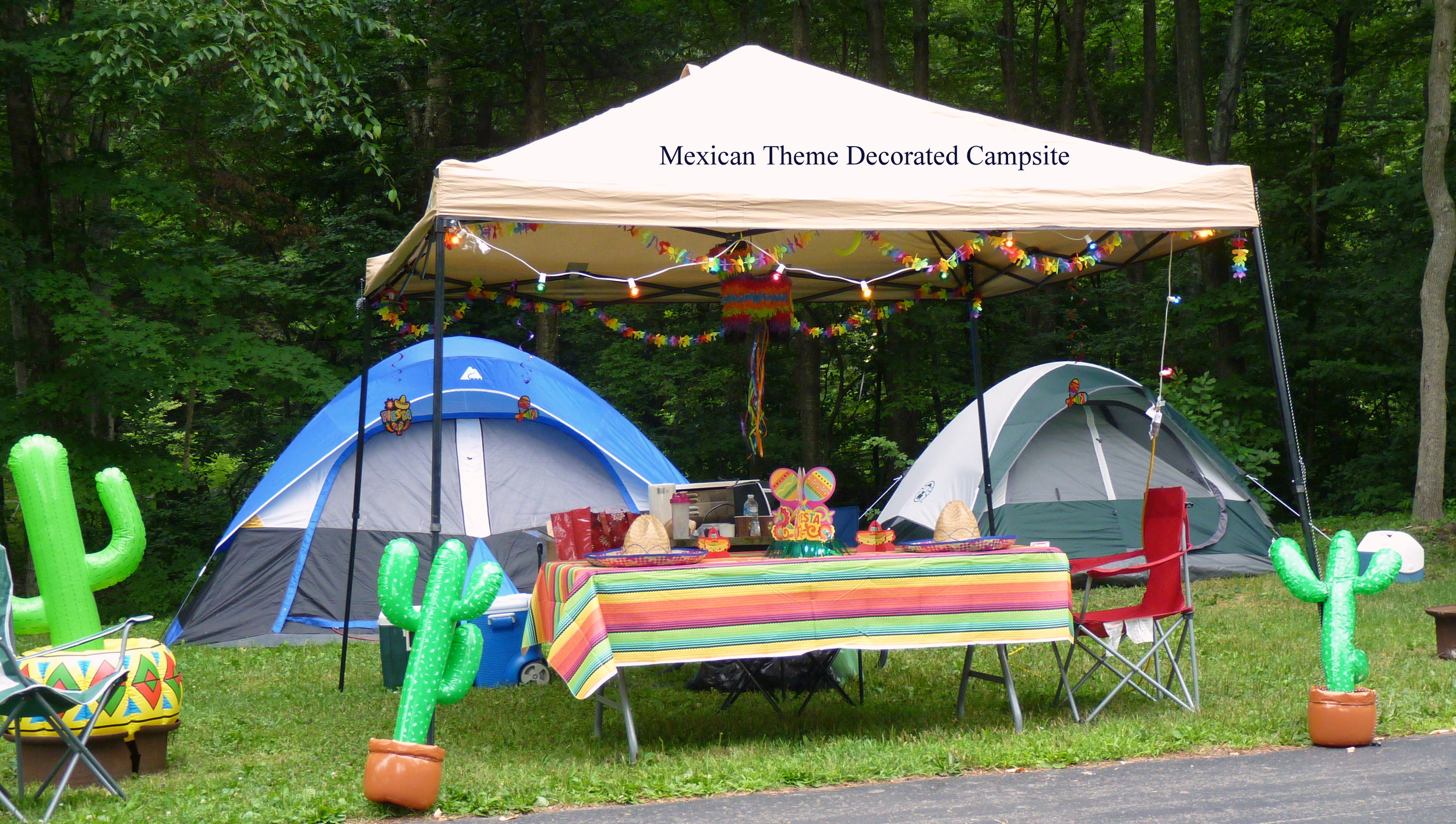 Mexican Themed Campsite Decorations