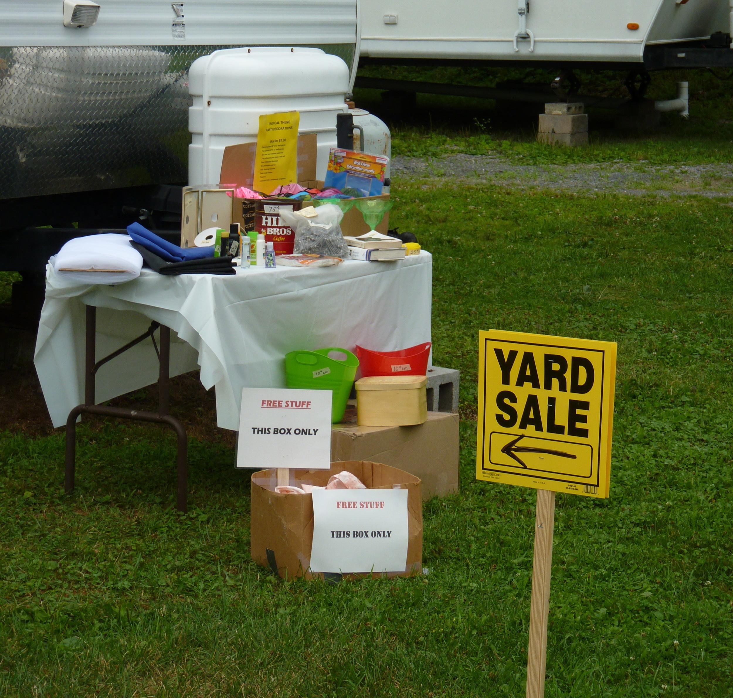 Yard Sale Campsite