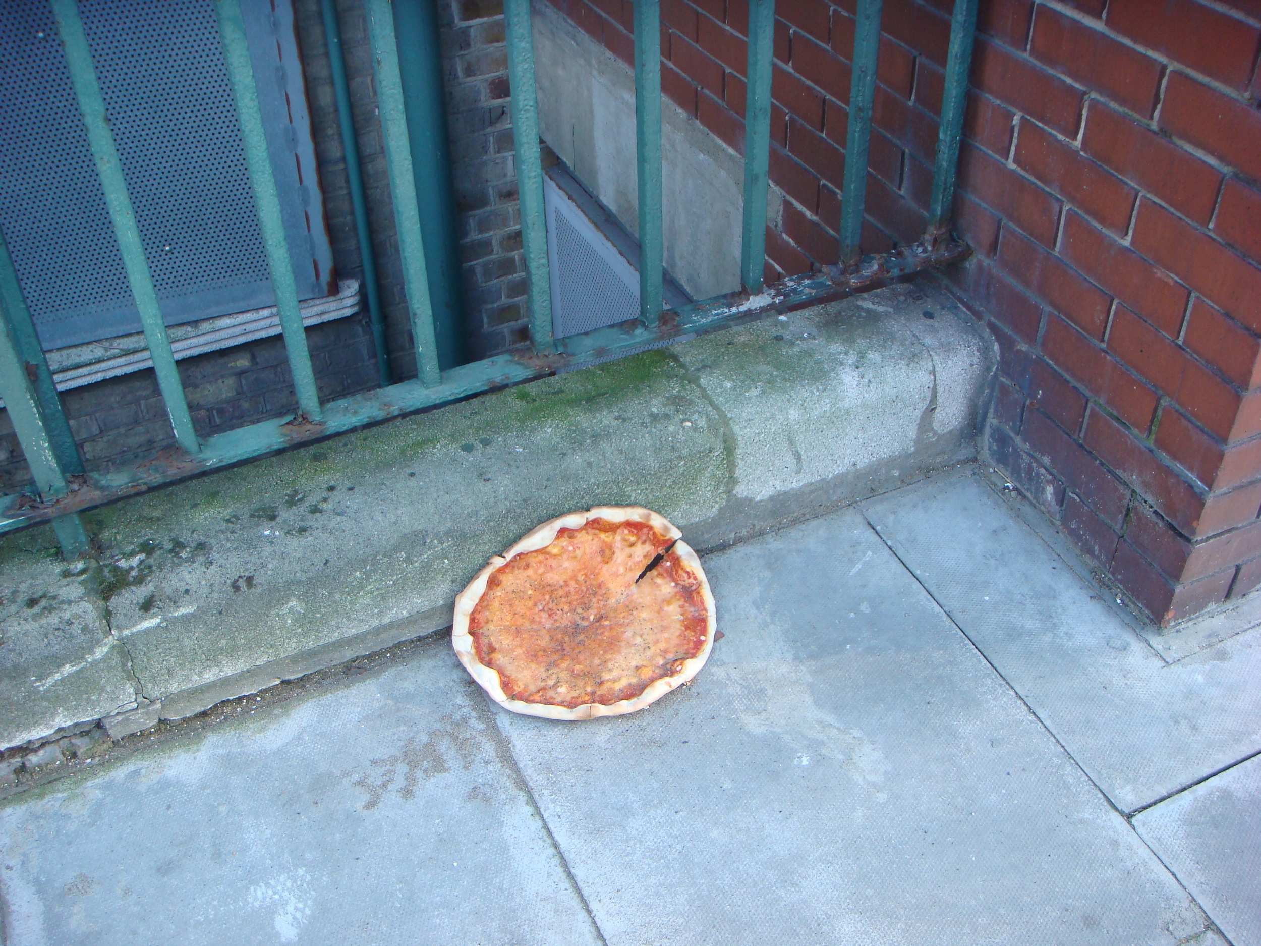 Sad pizza, London