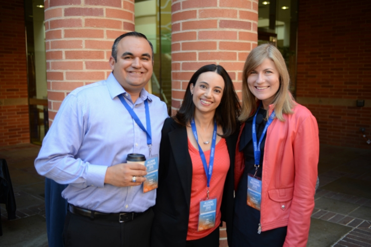 With classmates Tommy and Elifat the reunion conference - photocourtesy UCLA Anderson
