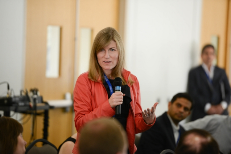 On the spot during a panel on crafting a compelling career narrative - photo courtesy UCLA Anderson