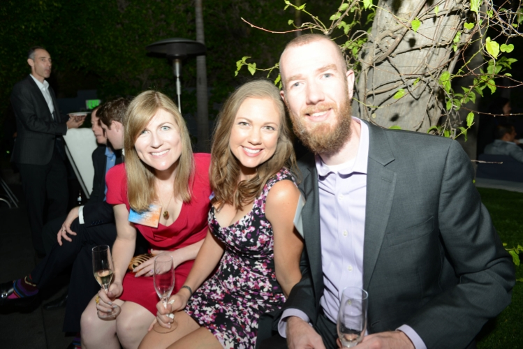 At the 5th reunion party with classmatesCara and Scottie - photo courtesy UCLA Anderson