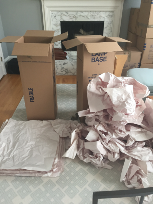 Each box had exactly the same amount of packing paper in it...