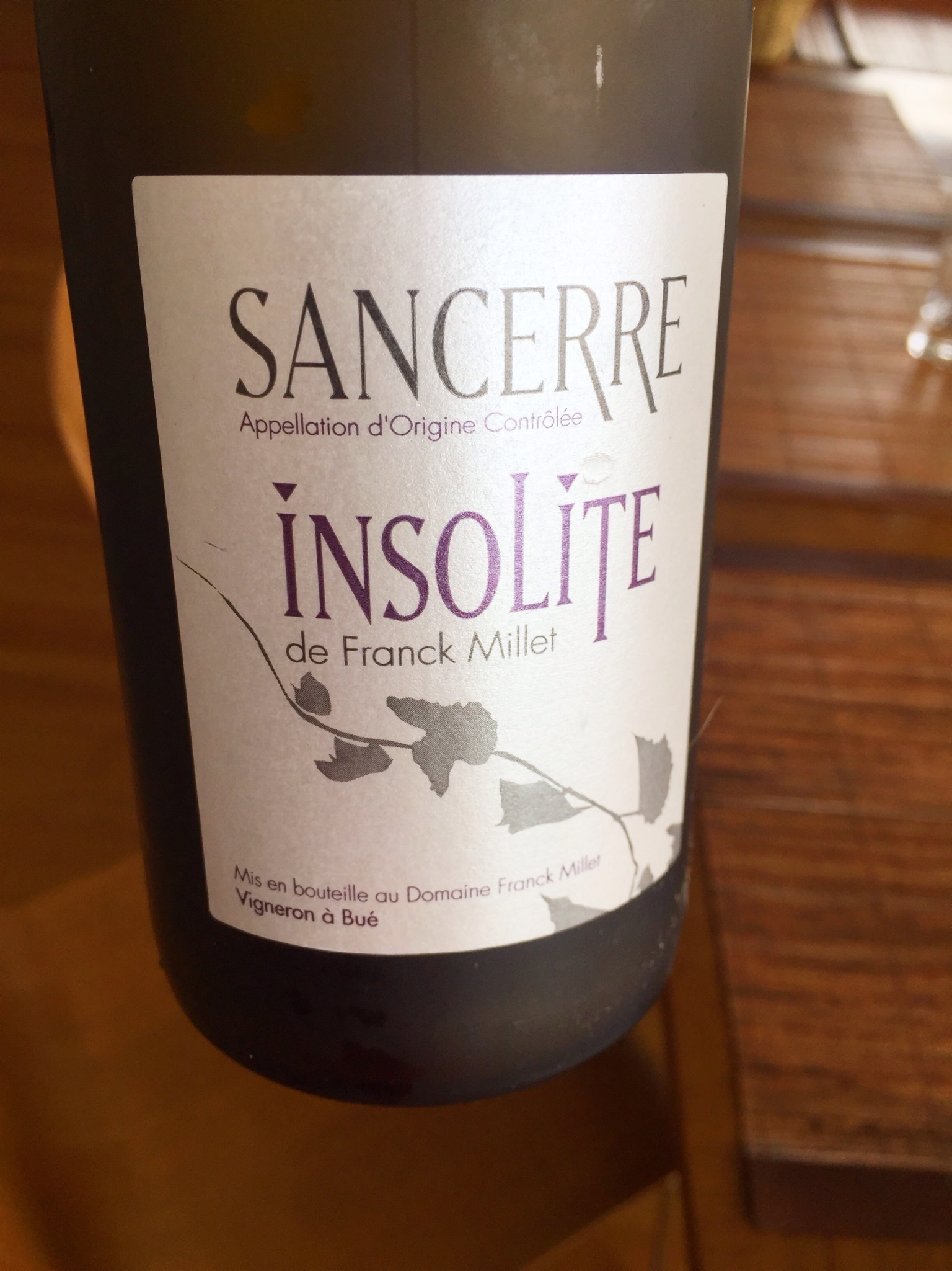 ...this lovely Sancerre by Dave and Julia