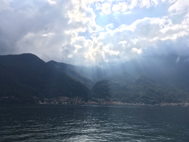 Photo taken by my husband on the ferry across Lake Como