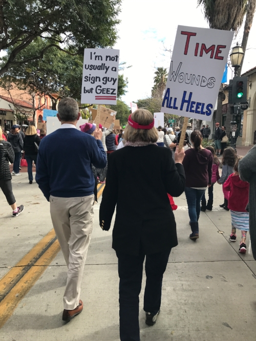 Something's up when Grandma and Grandpa are on the march.