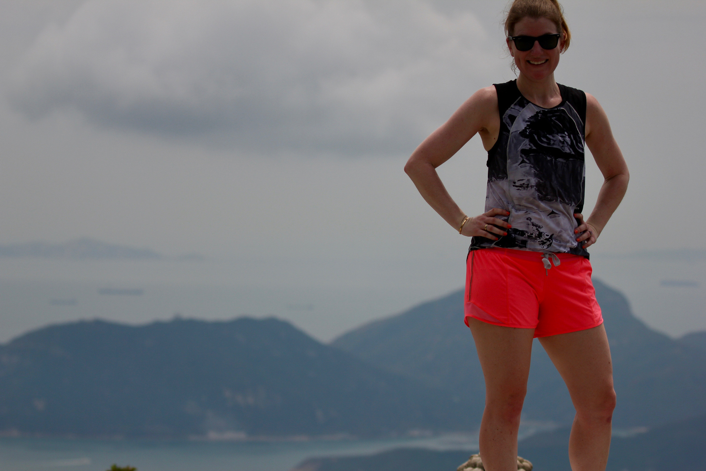 My workout clothes served me as well climbing The Peak in Hong Kong as they do in the gym at home!