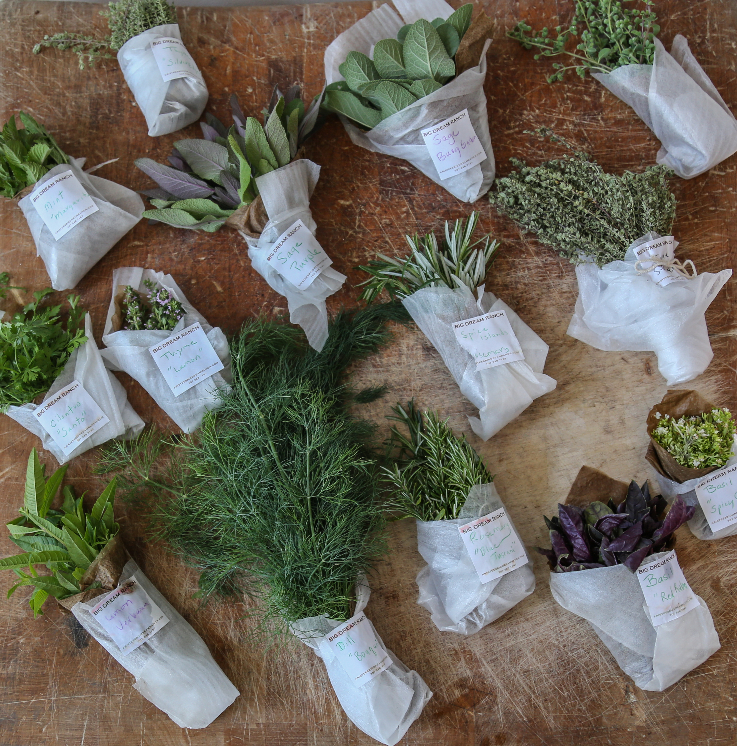Herbal bounty from our new collaboration with Big Dream Ranch