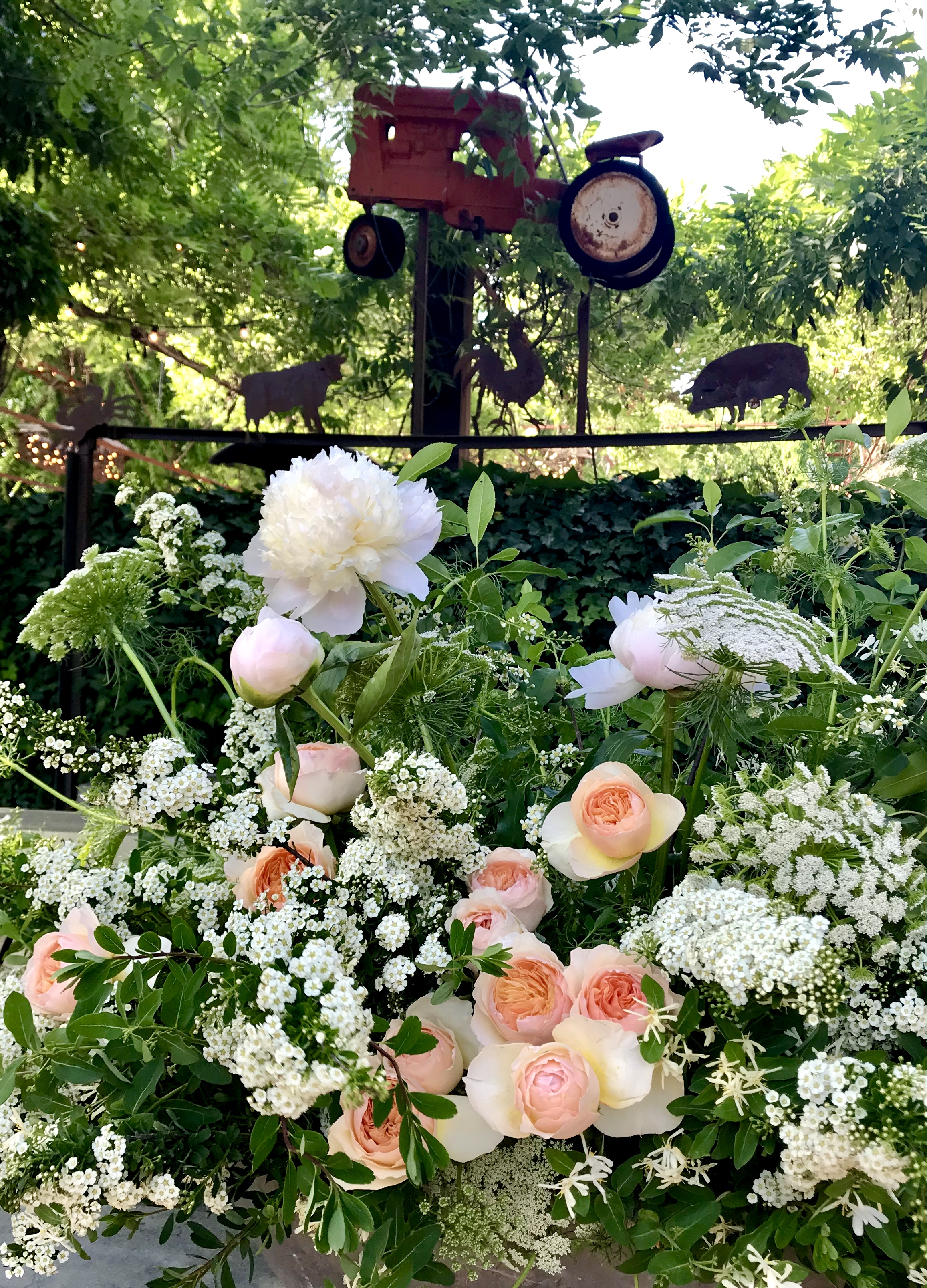 A Daniel James garden bar arrangement for a Barndiva Wedding