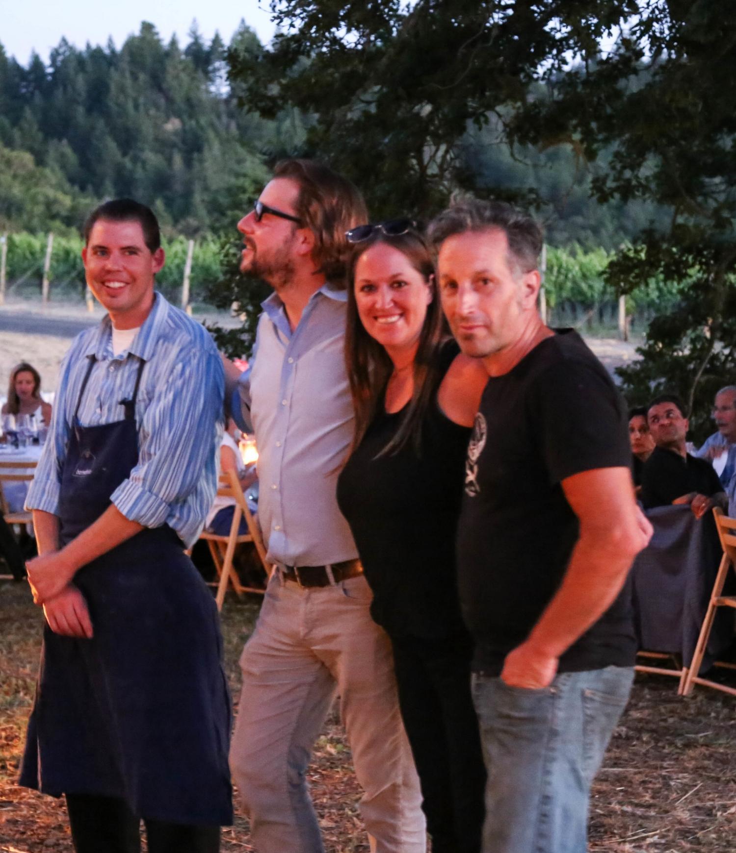 Chef Andrew Wycoff, owner Lukka Feldman, restaurant manager Cathryn Hulsman, artist Jordy Morgan, aka HOBO grill master extraordinaire