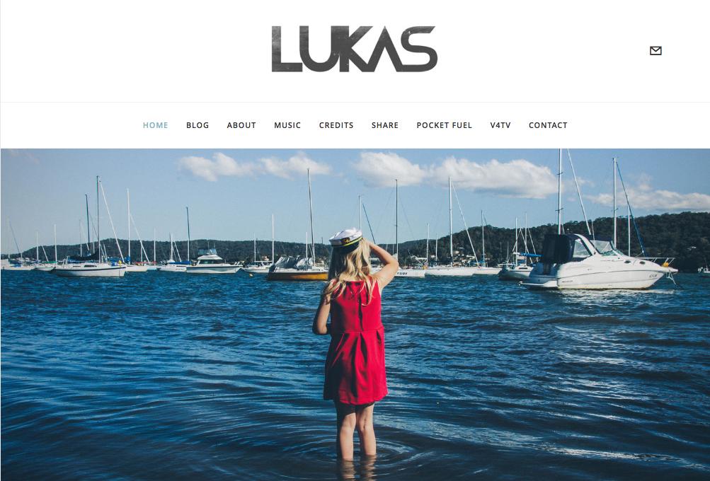 LUKAS  logo / branding, CD cover, website design, photography, marketing.