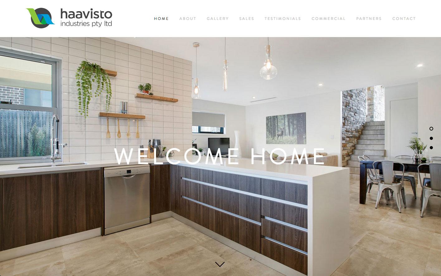 Website & design for Haavisto Industries.