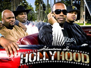 Set in Los Angeles, Adventures in Hollyhood is a comedic reality series on MTV that follows Academy Award winners and rap artists, Three 6 Mafia on their quest to establish themselves as Hollywood players.