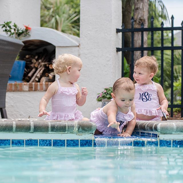 Matching suits for the best friends make pool days so much more fun 🏊‍♀️ . . . . . #myrtlebeach #myrtlebeachphotographer #babyfever #childphotography #photography #portraitphotography #familyphotography #photographer #kids #childhoodunplugged #childportraits #photoshoot #childmodel #portraits #childportrait #familyphotographer #easter #photo #photooftheday #letthembelittle #baby #portraitphotographer #familypictures #children #lifestylephotography #toddlerphotography #pool #summertime #seersucker #monogrameverything