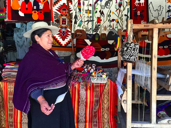 I think one thing I adore most about Ecuador (besides the abundance of Alpacas and Llamas - my favorite animals) are the culturally rich people who live here. They hold true to their indigenous roots in the way they dress, eat, act, live, work, etc. The blankets and tapestries you buy here weren't shipped in from China. You can rest assured you're getting hand crafted materials that may have taken them as long as 4 or 5 days for them to complete. $20 for an artistic fabric tapestry doesn't sound so bad at that working rate, now, does it? And, not to mention, the colors here are so vibrant and captivating!   |   Ecuador