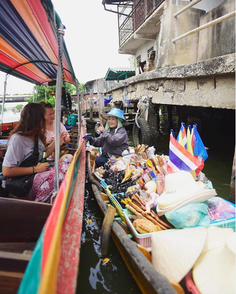 "The boat tour included a trip through a ""floating market"", aka: one lady on a boat selling overpriced souvenirs   