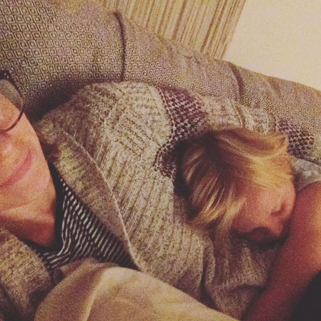 Snuggles with the nephew.