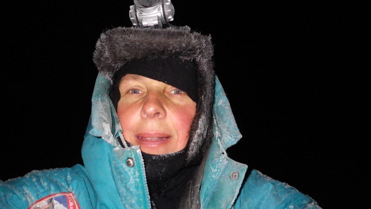 Selfie on top of Kesänki at -35 C, about 3 PM