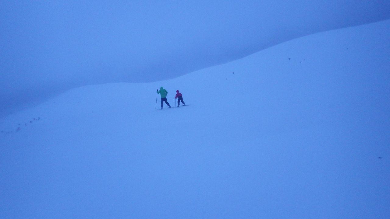 At the top of Kesänki fell, wind 20 m/s